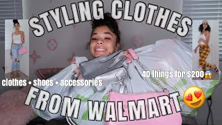 STYLING OUTFITS FROM WALMART😱 (baddie On A Budget Pt.1)