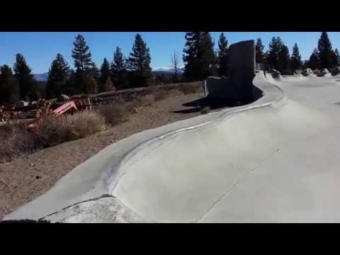 Tour of Volcom brothers skatepark in Mammoth Lakes, CA