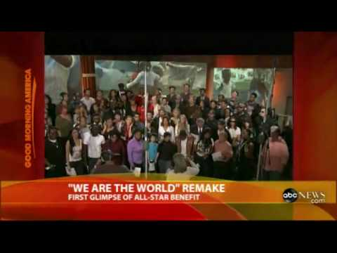 Celine Dion and others recording -We Are The World - 25 for Haiti