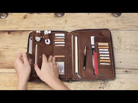 Contacts Family iPad Pro Passport Holder Retro Leather Bag