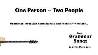 One Person; Two People
