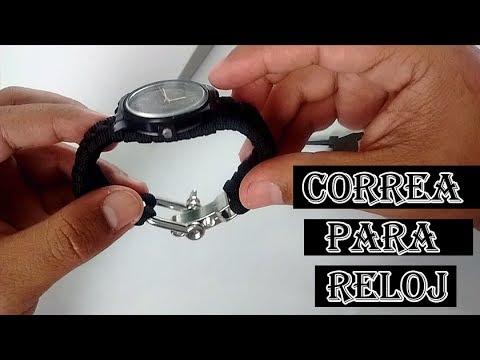 COMO HACER UNA CORREA PARA RELOJ EN PARACORD / How to make a Paracord Watch Band
