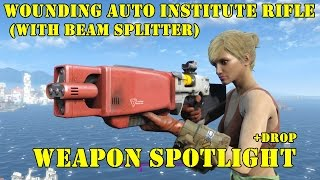 Fallout 4: Weapon Spotlights: Wounding Auto Institute Rifle (With Beam Splitter)