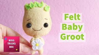 DIY: Cute Felt Groot | Kawaii Crafts.