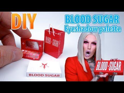 DIY Miniature BLOOD SUGAR eyeshadow palette   DollHouse