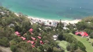 preview picture of video 'Helicopter over Sandals La Toc St Lucia by Lynn at Alpha Travel 919.467.5020'