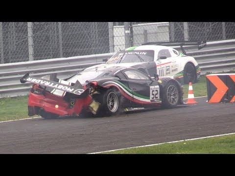 Blancpain GT Endurance Series Monza 3H 2019 & Support Races-Big Crashes, Spins, Fails & More