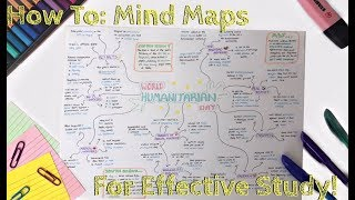 How To Make The PERFECT Mind Map And STUDY EFFECTIVELY! | Eve