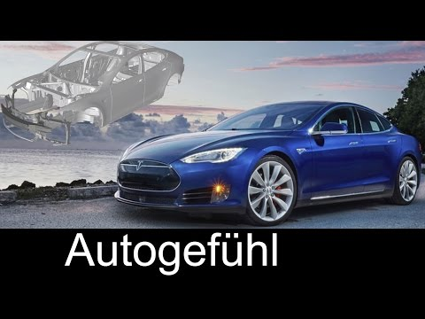 How to build a Tesla Model S in 90 sec - short overview production assembly plant