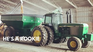 My Dad...Is A Bad Farmer! | Cleaning Corn Out Of Flat Storage