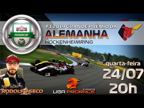 F1 2019 ESPORTS | GRANDE PRÊMIO DA ALEMANHA 2019 | F1 2019 XBOX ONE ROOKIE | LIGA PRO RACE ESPORTS