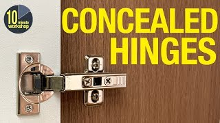 How To Fit Concealed  Euro-style  Hinges For Overlay & Inset Cabinet Doors    # 348