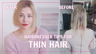 Hairdresser Tips For Thin & Fine Hair | Kia Lindroos