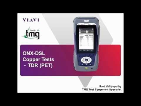 Video: VIAVI ONX DSL TDR (PET) Introduction - TMG Test Equipment