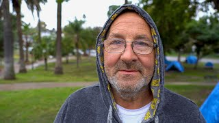Los Angeles Homeless Man on the Criminalization of Homelessness in Echo Park