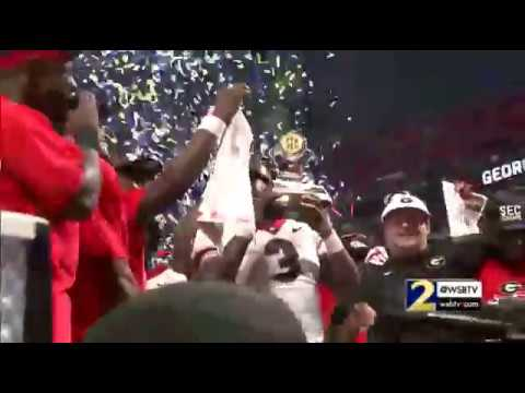 RAW VIDEO:  UGA presented with SEC Championshp Trophy