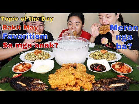 Deep Fried Pork w/ Breadcrumbs,Inihaw na Tilapya,Ginisang Ampalaya,kimchi,Buko Juice Pinoy Mukbang!