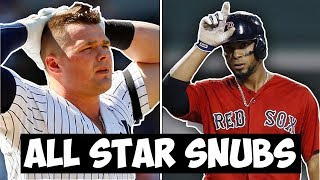 BIGGEST MLB All-Star Game SNUBS