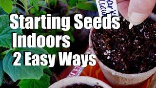 Starting Seeds Indoors for Your Spring Garden - 2 Easy Ways // $10 Garden Series #1, Season 2