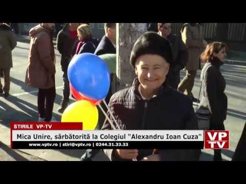 """Mica Unire, sărbătorită la Colegiul """"Alexandru Ioan Cuza"""""""