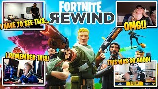 Streamers React to The Fortnite Rewind