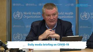 Live from WHO HQ – Daily Press Briefing on COVID-19