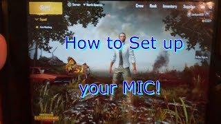 how to on pubg mobile mic - मुफ्त ऑनलाइन