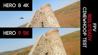 GoPro Hero 9 5k VS Hero 8 4k - FPV with ReelSteady comparison