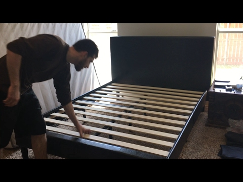 ZINUS Faux Leather Bed (Review and Basic Assembly)