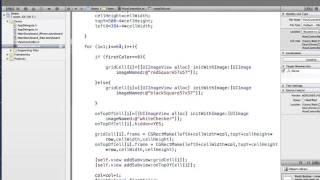 xCode Tutorial - Array of ImageViews - Checkerboard Example