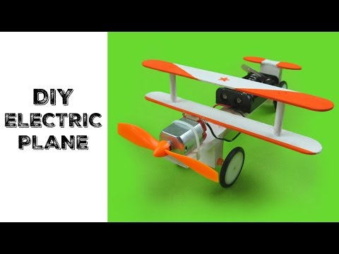 How To: DIY Handmade Electric PLANE Using RECYCLE MATERIALS!!