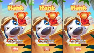 My Talking Hank Android Gameplay - Place Food and Toys to Attract Animals Photographs with Bunny
