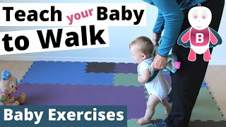 How to Teach Baby to Walk 👶❤️ Baby Exercises ★ 9-12+ Months ★ Baby Activities, Baby Development