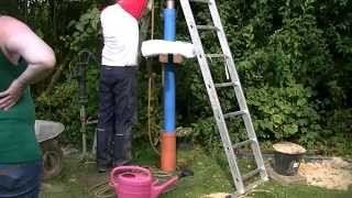 Jak wiercić sam sobie studnie w ogrodzie / how to water well drilling
