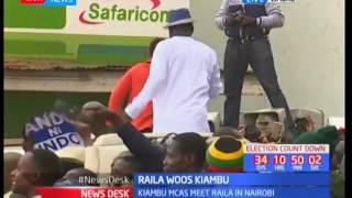 Raila woos Kiambu : Raila Odinga and his team arrive in Kiambu for campaign