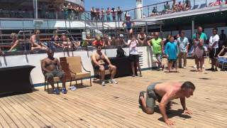 Hairy Chest Contest Carnival Cruise Victory