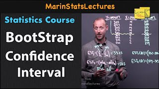 Bootstrap Confidence Interval with Examples   Statistics Tutorial #36   MarinStatsLectures