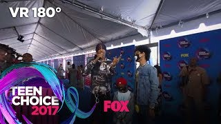 Ayo & Teo Get Hyped On The Blue Carpet | TEEN CHOICE