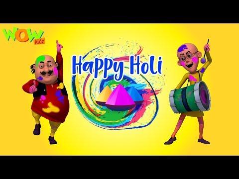 HOLI special with Motu Patlu | Holi Hai Bhai Holi Hai | Wow Kidz