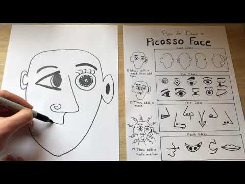 Art Lessons Online: How to Draw a Picasso Face (K-5)