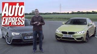 BMW M4 vs Audi RS5: epic track battle