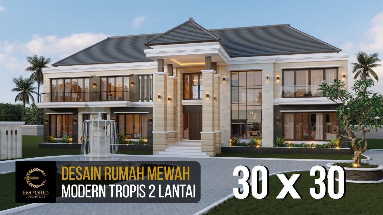 Video 3D Mr. Wahyudi Villa Bali Modern House 2 Floors Design - Banjarmasin, Kalimantan Selatan