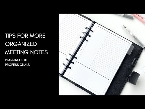 , title : '4 Quick Tips for Organizing Your Meeting Notes | #PlanningForProfessionals