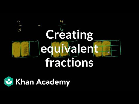 Creating equivalent fractions (video) | Khan Academy