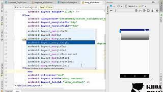 Bài 14: CustomAdapter cho listview playlist và gắn dữ liệu lên giao diện