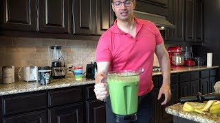 """John D. Villarreal's 3-Step Super Green Smoothie"" Using My Vitamix A3300 - in 4K Ultr"
