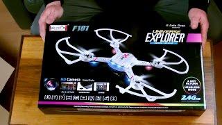 UNBOXING ! Flug Drone Quadrocopter von S-IDEE Typ F181 Universe Explorer !