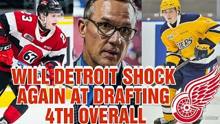 WILL DETROIT REDWINGS SHOCK FANS WITH THEIR 4TH OVERALL DRAFT PICK?