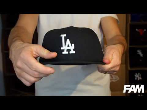 59FIFTY LOS ANGELES DODGERS BLACK/WHITE FITTED CAP Video #1