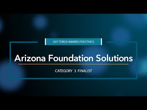 Bob Brown tells us how Arizona Foundation Solutions became an outstanding company for business ethics in Arizona.